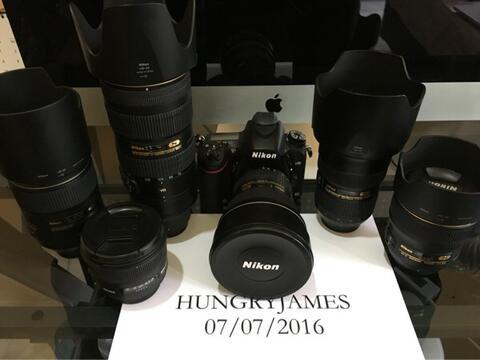 Nikon D750 complete set 6 lensa