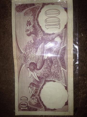 uang kuno pecahan 100 rupiah tahun 1959