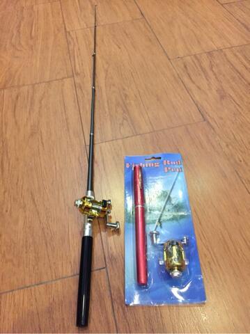 Joran / Pancingan Model Pena + mini Reel panjang 1 meter