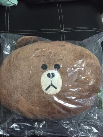 Terjual Boneka Bantal Line Brown (Line Cushion) Original  64a17fdfe5