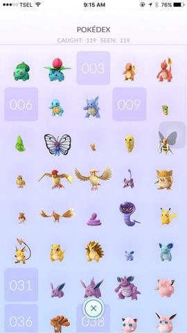 Jual pokemon go level 21 momon diatas cp1k banyak...