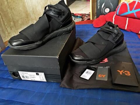 Adidas y-3 high qasa triple black 10/44 murah