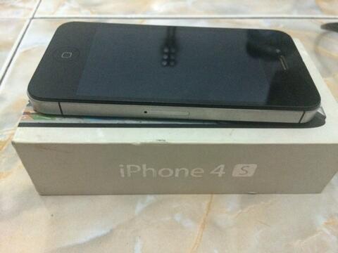 Terjual IPHONE 4S 16GB BLACK EX IBOX MURAH BU  0f224a633c