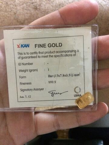 Terjual Logam Mulia Emas Batangan Antam 1 Gram Murah Kaskus