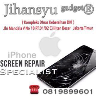 Jasa pemasangan Kaca iphone 5/5s retak atau Pecah