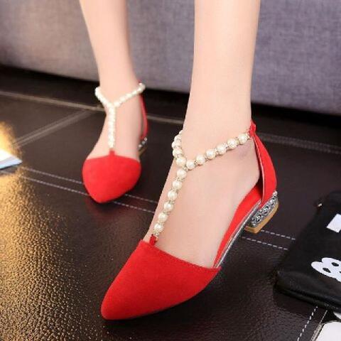 Flatshoes LKS30 Merah