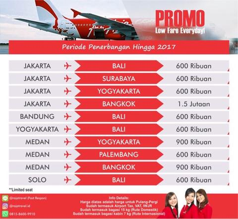 Terjual Raja Travel Tiket Promo Murah Pesawat Air Asia Jakarta Bangkok Pp Kaskus