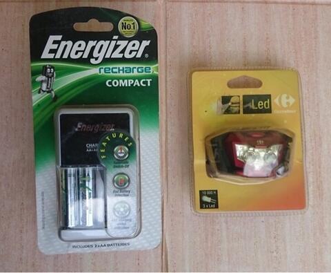 Cuci Gudang. Charger Energizer Compact & Headlamp