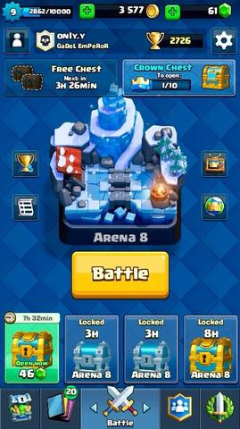 Clash Royale 4 Legendary Cards