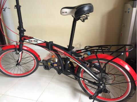 Sepeda lipat merk exotic