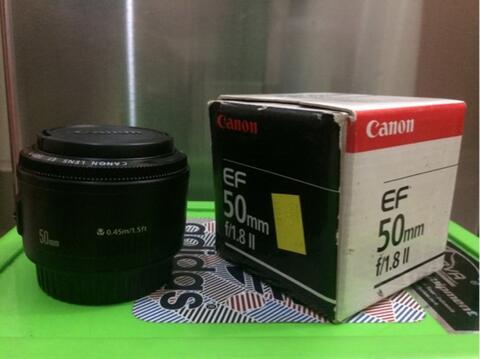 [Barkas Berkualitas] Lensa Canon Fix EF 50mm f/1.8 II Istimewa