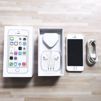 iPhone 5S Silver 32 GB Second + Bonus