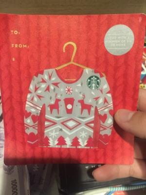 starbucks card limited edition sweater