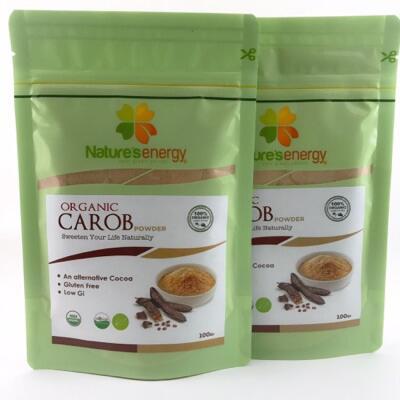 Organic Carob Powder 100gr (Pengganti Coklat Kaya Asam Amino )