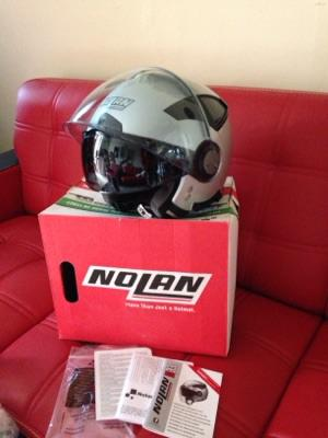Helm Nolan N33 Double Visor silver matt