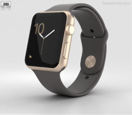 Apple WTch Series 1.Gold Aluminum Case with Cocoa Sport Band