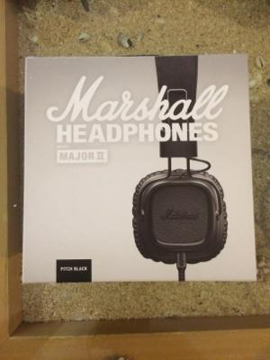 Jual headphone Marshall Major II (Major 2) Pitch Black Original COD Surabaya