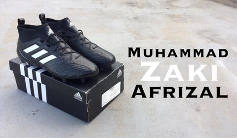 Sepatu Bola Ace 17.1 Primeknit FG Checkered Black