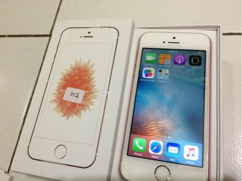 iPhone SE 64gb FU Rose Gold White 5 mulus like new fullset Bandung Bdg