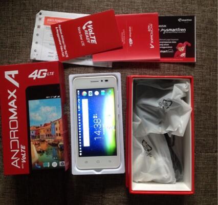ANDROMAX A 4G, full set garansi, br sebulan pake