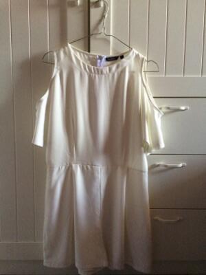 Cut Out White Jumpsuit
