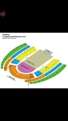 Tiket COLDPLAY SINGAPORE 31 MARCH CAT 1