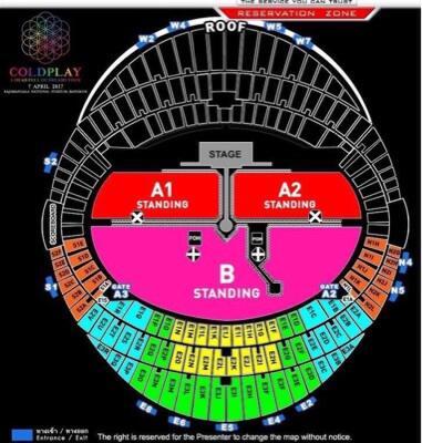 Tiket Konser Coldplay (BANGKOK)