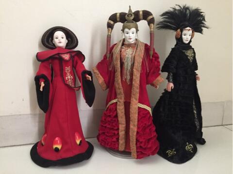 3 star wars amidala doll boneka