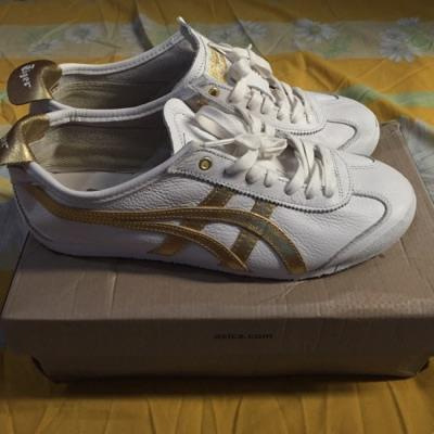 newest d197b 208bf Asics Onitsuka Tiger White Gold Leather Original (size 41,5 fit to 42)