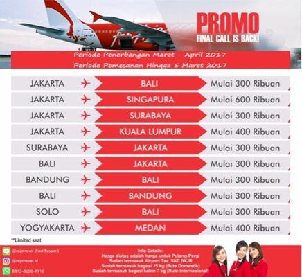 Terjual Raja Travel Tiket Promo Murah Pesawat Air Asia Airasia Solo Bali Pp