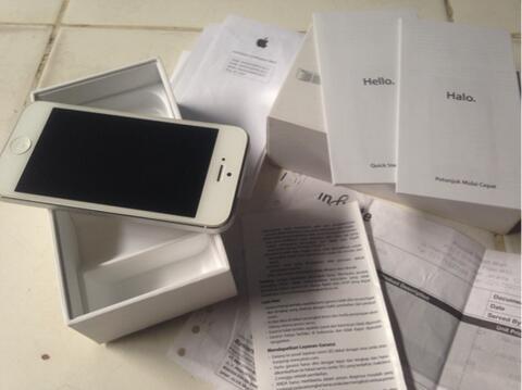 iPhone 5 White 4G 16 Gb Ori Ex Infinite Murah