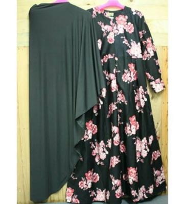 01 Dress Ellyana Kajep + Khimar