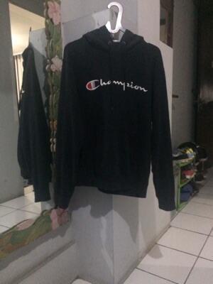 hoodie champion hitam original