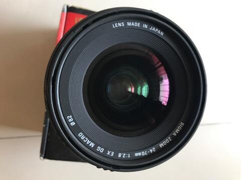lensa sigma for canon 24-70mm f2.8 ex dg macro mulus