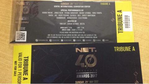 2 Tiket HUT NET. 4.0 Indonesian Choice Award 2017