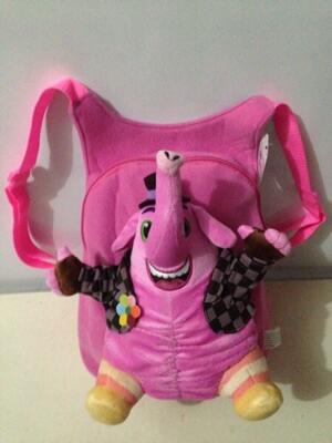 Tas ransel boneka gajah pink