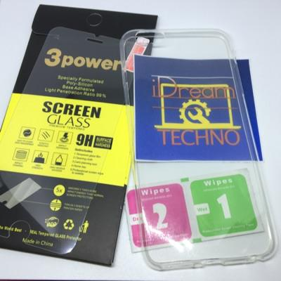 Tempered Glass 3 Power iphone 5/6/6+ FREE Ultra Thin Silicon