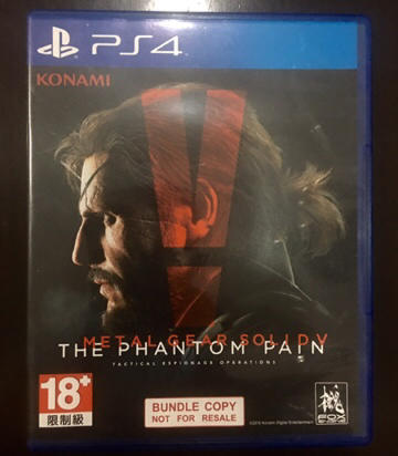 Blueray Disc PS4 Metal Gear Solid Phantom Pain MGS BD Playstation 4