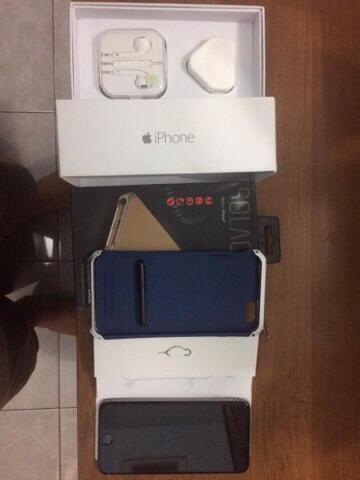 iphone 6 + (plus) 64gb grey - mulus, fullset,