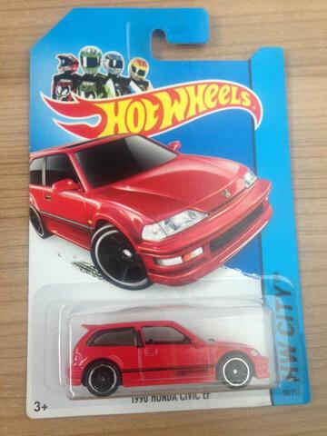Hotwheels Honda Civic EF Red Merah