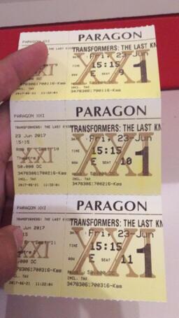 Terjual Tiket Transformers Jumat 23 Juni 2017 Paragon Xxi Semarang