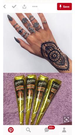 Terjual Isi 12 Golecha Henna Gold Series Black Maroon Kaskus