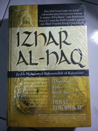 dicari buku izhar al haq bahasa indonesia