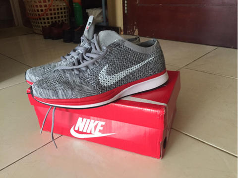 7b8d3a6941b90 Terjual Sell Nike Flyknit Racer No Parking 2nd kw super (200rb aja ...