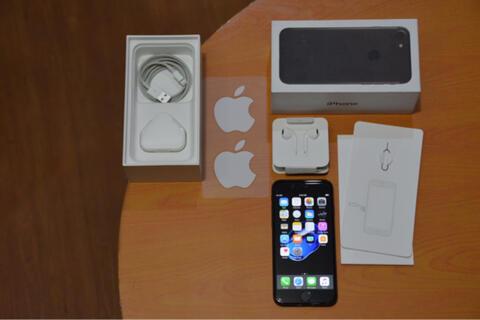 iPhone 7 matte black 256GB Fullset Original Singapore (cod bandung)