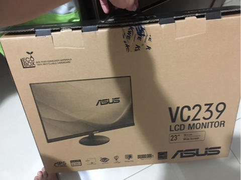 monitor lcd ips panel asus bc239