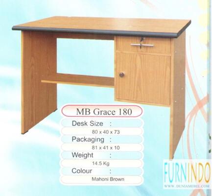 Meja Kerja Kantor Mini MB Grace 180