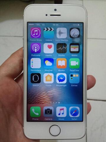 IPHONE 5S 16GB (FU) WHITE LENGKAP & NORMAL EX GARANSI RESMI IBOX