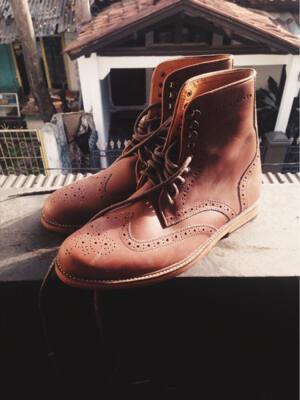 Sepatu Murah meriah boots wingtip kulit asli woodgentleman