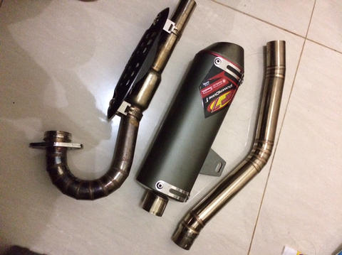 jual knalpot GP7 original buat klx dtracker 150 BNOB gresss